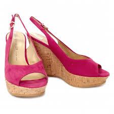 pink wedge heels is heel
