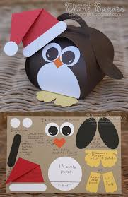 cute christmas penguin box u0026 instructions made with stampin u0027 up