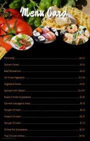 menu card templates free menu maker it s easy postermywall