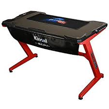 amazon com arozzi arena gaming desk red home u0026 kitchen