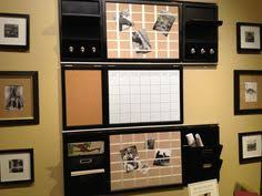 pottery barn white board calendar and organizers with rack for