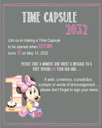 First Year Invitation Birthday Cards 1st Birthday Time Capsule Free Printables Time Capsule