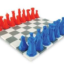 Futuristic Chess Set Free Faceted Chess Set Stl Model Cults
