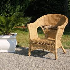 Wicker Lounge Chair Jeco Wicker Chair With Cushion Hayneedle