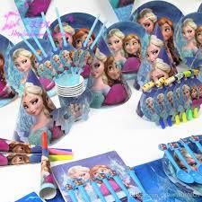 frozen party supplies 2017 retail frozen party sets luxury kids birthday decoration set