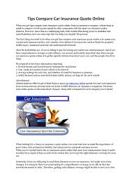 quote comprehensive car insurance tips compare car insurance quote online by nishantmehta333 issuu
