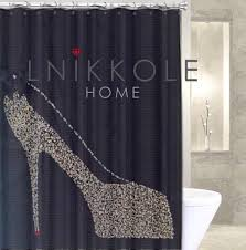 Rhinestone Shower Curtain Hooks Rhinestone Shower Curtain Shower Curtains Bathroom Curtain