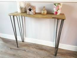 hairpin leg console table industrial hairpin leg console table made with reclaimed wood ebay