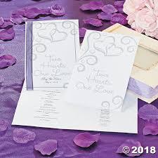 purple wedding programs two hearts wedding programs