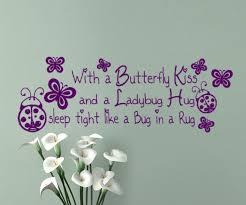 Bug Na Rug Nursery Wall Decal With A Butterfly Kiss And A Ladybug Hug