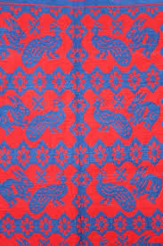 Flat Woven Runner Rugs Cotton Flat Weave Peacock Rabbit Pattern Carpet Rug Runner Rug