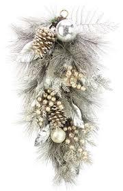 28 metallic pine cone ornament berry cedar