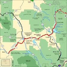 colorado river map colorado river headwaters byway map america s byways
