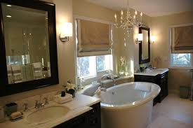 visual comfort george ii chandelier traditional bathroom