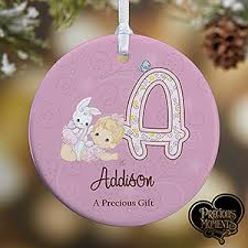 personalized baby ornaments precious moments