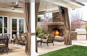 Curtains On Patio Easy Outdoor Patio Curtains On Furniture Home Design Ideas Patio