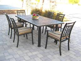 Rectangle Patio Dining Table Design Metal Rectangular Patio Dining Table Outdoor Furniture Chic