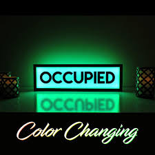 Bathroom Occupied Light Occupied Sign Occupied Bathroom Sign Vacant Sign Light Up