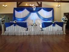 wedding backdrop blue weddings events backdrop noretas decor inc