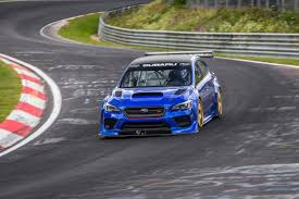 subaru breaks the nurburgring saloon car record with highly