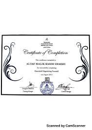organizing yourself kempinski organizing yourself certificate