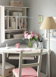 Desk Ideas For Small Rooms Blue Hortensia Love Everything About This Little Work