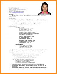 simple job resume format pdf 6 professional resume sles pdf resume cover note