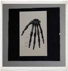 instant halloween art printable download hand bones the