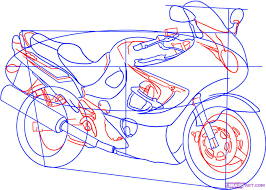 how to draw a sport bike 2006 suzuki katana 600 step by step