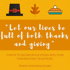 giving for thanksgiving worthdays