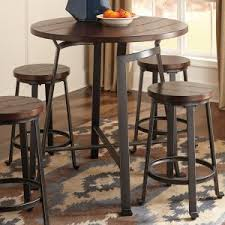 bar height table industrial distressed industrial style pub tables hayneedle