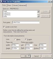 how to add custom page or paper sizes to windows applications