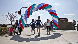 balloon delivery winston salem nc branch trail opens in downtown winston salem local news