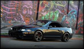 Black Mustang Convertible Black 03 04 Cobra Convertible W Black Saleen Wheels 03 04 Ford