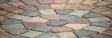 Circular Paver Patio Interlocking Concrete Pavers Circle Pattern Kit