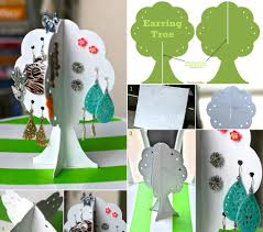 colorfully free covers diy earring storage tree