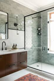 Glass Tiles Bathroom Best 25 Modern Bathroom Tile Ideas On Pinterest Hexagon Tile