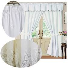 Elasticated Valance White Victoria Lace Pencil Pleat Curtains The Mill Shop