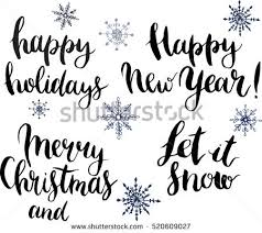 vector happy holidays let snow merry stock vector 520609027