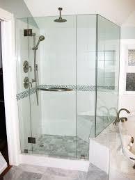 installation of sliding glass doors bathroom shower stall glass panels frameless shower door
