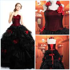 Gothic Wedding Dresses Red And Black Gothic Wedding Dress Black Dresses Dressesss