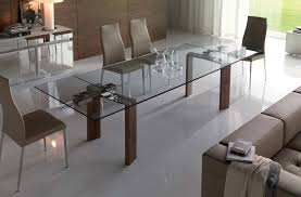 glass dining room sets practical expandable glass dining table