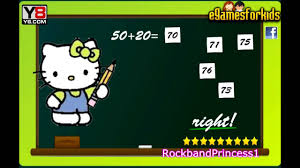 kitty games kitty math game