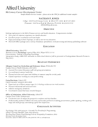 Resume For Summer Internship Human Services Resume Templates Federal Resume Samples Format Doc