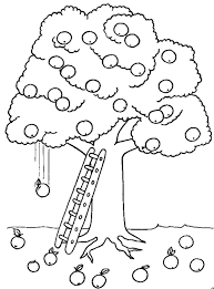 nature apple tree coloring page for kids printable free at tree