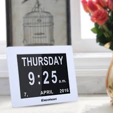 Modern Desk Calendar by 8 U0026 034 Led Modern Calendar Auto Flip Desk Wall Clock Large Time
