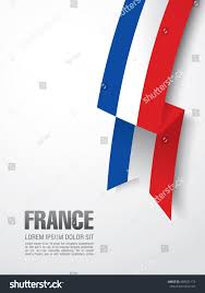 Image French Flag French Flag Ribbon Over White Background Stock Vector 489521173