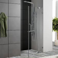 Shower Door 36 Vigo 36 Inch Frameless Shower Door Chrome Finish
