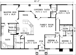 4 bedroom 1 house plans adobe southwestern style house plan 4 beds 3 00 baths 2129 sq ft