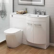 Mm Right Hand Modern Bathroom Gloss White Basin Toilet - Bathroom cabinets in white gloss